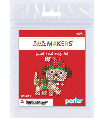 Little Makers Bead Kit-Santa Hat Dog