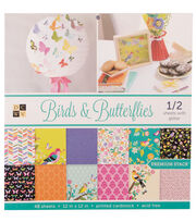 """DCWV 12""""x12"""" Birds & Butterflies Stack, , hi-res"""