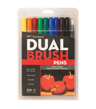 Tombow Dual Brush Pen Set 10/Pkg-Primary