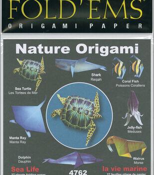 "Fold 'Ems Origami Paper 6""X6"" 27/Pkg-Sea Life"
