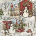Christmas Cotton Fabric-Holiday Barn