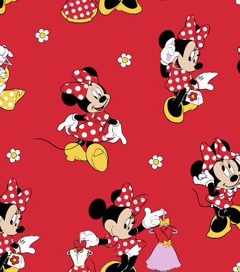 "Disney® Minnie Mouse Cotton Fabric 43""-Loves Dresses"