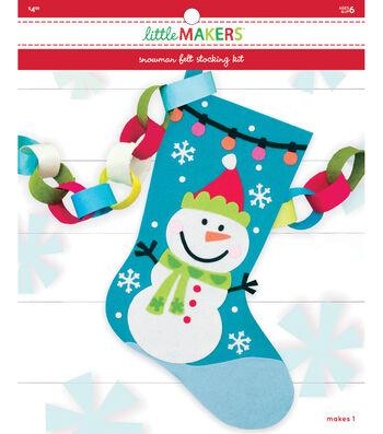 Little Makers Felt Stocking Kit-Snowman