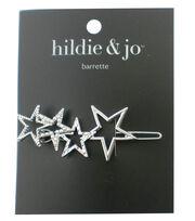 hildie & jo Stars Silver Barrette, , hi-res