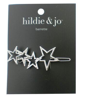 hildie & jo Stars Silver Barrette