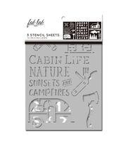 Fab Lab 3 pk 7''x10'' Stencil Sheets-Cabin, , hi-res