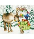 Dimensions 12\u0027\u0027x9\u0027\u0027 Counted Cross Stitch Kit-Ornamental Reindeer