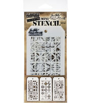 Tim Holtz Mini Layered Stencil Set 3/Pkg-Set #41, , hi-res