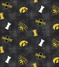 University of Iowa Hawkeyes Flannel Fabric 42\u0022-Distressed Logo