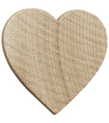 """Wood Turning Shapes-Heart 1-1/2"""" 7/Pk"""