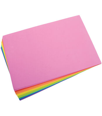 "Darice Foam Sheets 12""X18"" 12/Pkg-Bright Colors"