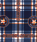 Houston Astros Fleece Fabric-Plaid