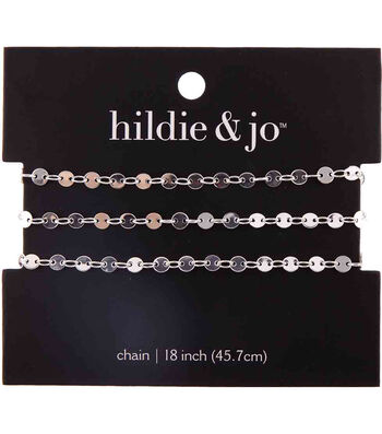 "hildie & jo 18"" Copper & Iron Small Circles Chain-Silver"