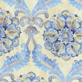 Waverly Upholstery 8x8 Fabric Swatch-Over The Moon/Lapis