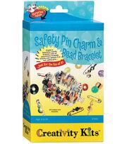 Creativity Kits-Safey Pin Charm & Bead Bracelet, , hi-res