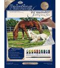 11\u0027\u0027x14\u0027\u0027 Paint By Number Kit-Horses In Field