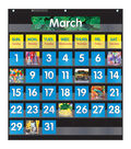 Monthly Calendar Pocket Chart with Cards, Black