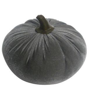 Simply Autumn Medium Velvet Pumpkin-Gray