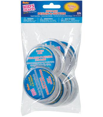 "Darice Design-A-Button 2-1/2""-Clear Plastic 12/Pkg"