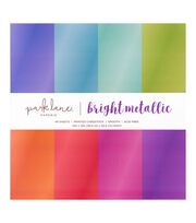 "DCWV 12""x12"" Brights Metallic Cardstock Stack, , hi-res"