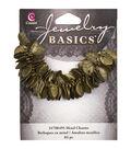 Jewelry Basics Leaf Charms 115/Pkg-Gold