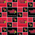 Illinois State University Redbirds Cotton Fabric -Logo