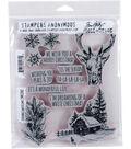 Tim Holtz Cling Stamps 7\u0022X8.5\u0022-Scribble Woodland