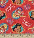 Disney Elena of Avalor Cotton Fabric 43\u0027\u0027-Family Is Everything