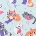 Anti-Pill Plush Fleece Fabric-Knitting Kitties