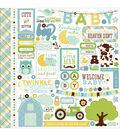 Echo Park Paper Company Bundle Of Joy Baby Boy, Element Stickers