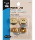Dritz 3/4\u0022Square Magnetic Snaps-Gilt 2 Pair