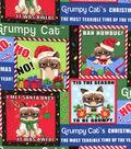 Christmas Cotton Fabric 44\u0022-Grumpy Cat Christmas
