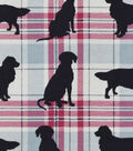 Snuggle Flannel Fabric -Dog Silhouette Plaid