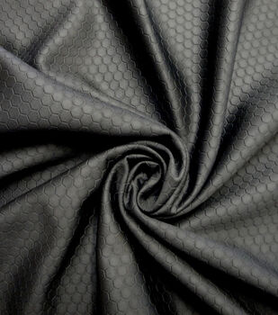 Cosplay by Yaya Han Stretch Fabric -Black Scuba Hexagon