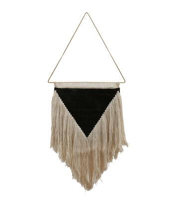 Hello Spring Fringe Wall Hanging-Ivory & Black