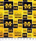 University of Michigan Wolverines Cotton Fabric 43\u0027\u0027-Block