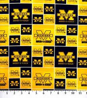 University of Michigan Wolverines Cotton Fabric 43''-Block, , hi-res