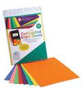 Corrugated Bright Sheets 8-1/2\u0022X11\u0022 8/Pkg-Assorted Colors