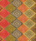 Waverly Lightweight Decor Fabric 54\u0022-Four Corners/Adobe