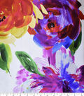 Gianna 100% Silk Charmeuse Print Fabric 43\u0022-Watercolor Rose