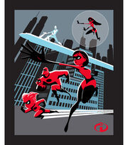 Disney Incredibles 2 Cotton Panel Fabric -Save the City, , hi-res