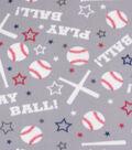 Blizzard Fleece Fabric-Baseball Words