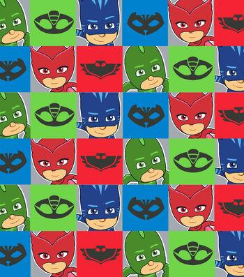 PJ Masks Fleece Fabric 59''-Characters