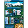Jet Setters Dimensional Stickers-Minnesota