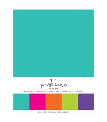 Park Lane 50 pk 8.5''x11'' Value Papers-Bright Solids