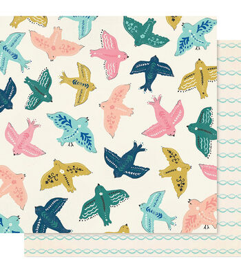 """Maggie Holmes Willow Lane Double-Sided Cardstock 12""""X12""""-Sparrow"""