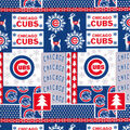 Christmas Chicago Cubs Cotton Fabric-Winter