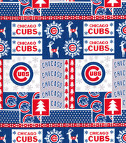 Christmas Chicago Cubs Cotton Fabric-Winter, , hi-res