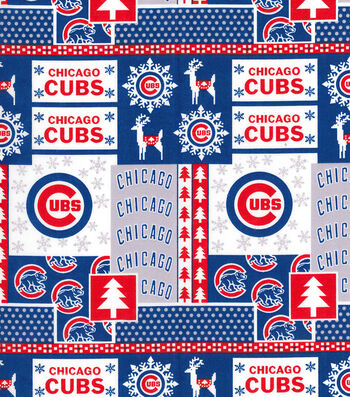 "Chicago Cubs Cotton Fabric 44""-Winter"