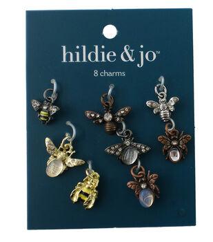 hildie & jo 8 Pack Bug Charms-Multi
